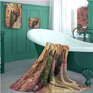 Wanderlust Juego de toallas de baño, diseño de calle antigua en ...
