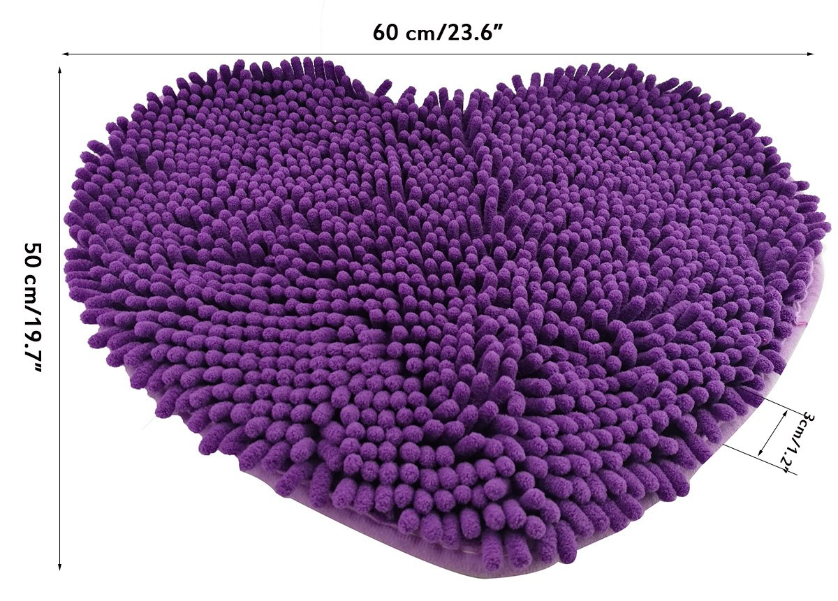 Winterworm Super suave Lovely heart Love forma Pad chenilla alta absorci/ón Alfombra Shaggy Puerta Mat felpudo alfombra ba/ño Kitchen Home pie
