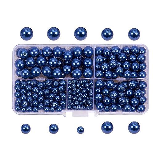 20 opinioni per PandaHall Elite 440PCS Perline Vetro Perla Rotonde Perla Vetro Colore Turchino