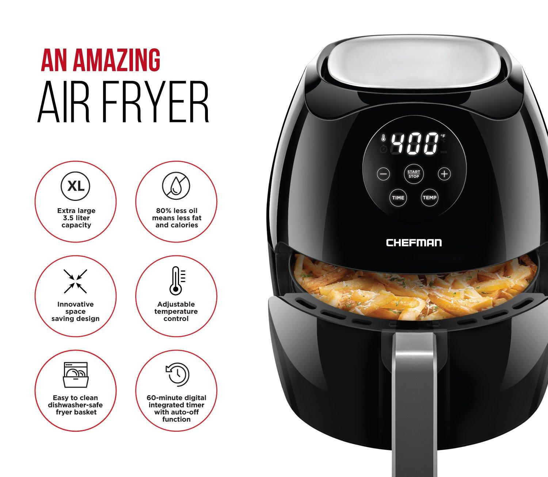 Amazon.com: Chefman Digital 3,5 litros/3,6 Quart pantalla ...