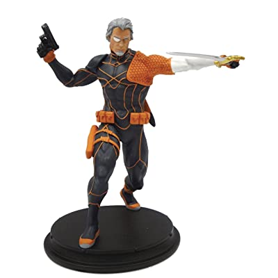 Icon Heroes DC Comics Rebirth Deathstroke Unmasked Resin Statue: Toys & Games