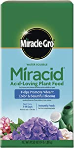 Scotts Company 185001 Garden Pro Water Soluble Miracid Acid Loving Plant Food, 4-Pound