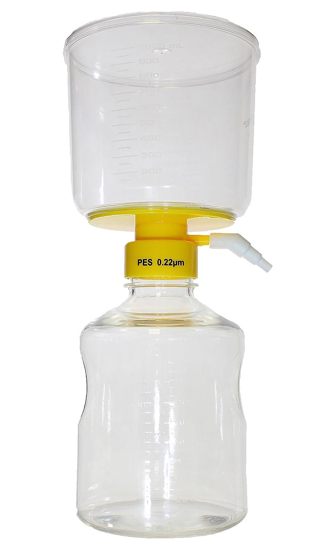 PES 1000 mL Bottle Top Vacuum Filter Case of 24 0.22 um Sterile
