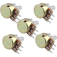 HALJIA 5pcs Potenciómetro 5K OHM Compatible con Arduino