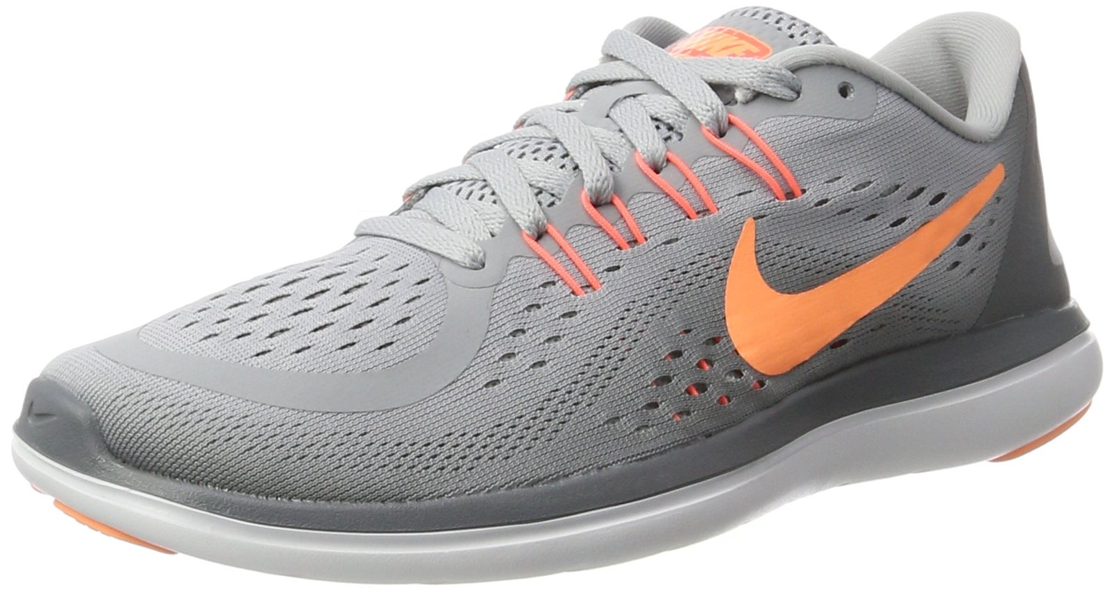 NIKE Women's Flex 2017 RN Running Shoe Wolf Grey/Sunset Glow/Cool Grey Size 11 M US