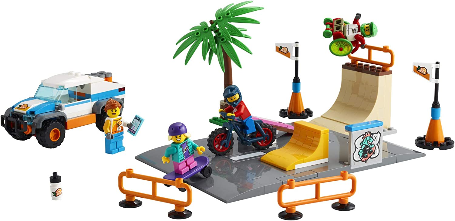 195 Pieces New 2021 LEGO City Skate Park 60290 Building Kit; Cool Building Toy for Kids