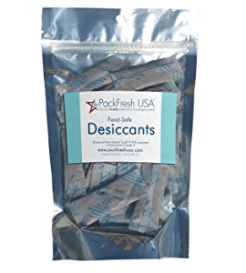 PackFreshUSA 5 Grams Food-Safe Clay Desiccants (50)
