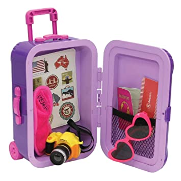 BARBIE DOLL LARGE PURPLE TRUNK LUGGAGE  DOLL ACCESSORY