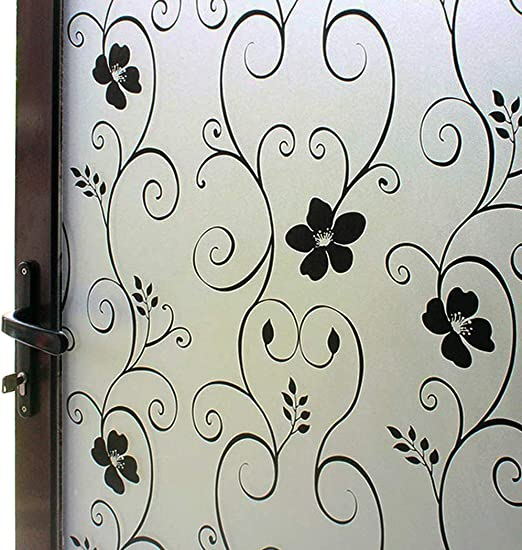 Static Cling Window Film 3D Frosted Glass Sticker Privacy Protection No Glue