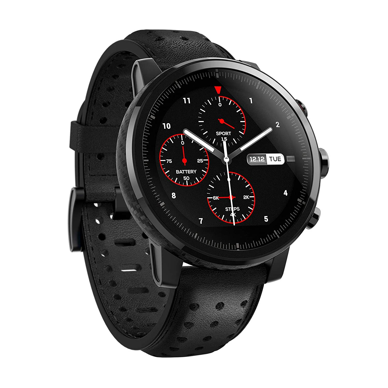 Xiaomi Amazfit Stratos 2S- Smartwatch Multisport, Bisel de cerámica pulida, Cristal de zafiro 2.5D, Resistente al agua hasta 50 metros, VO2 max, hasta ...