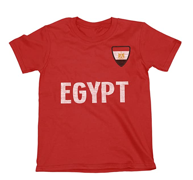 Niños O Niñas Egypt Country Name and Badge Camiseta Fútbol Copa Mundial 2018 Kids Sports: Amazon.es: Ropa y accesorios