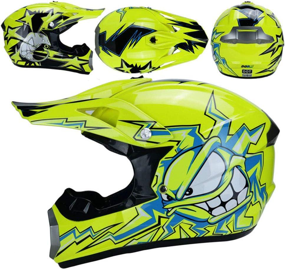 O T Quad Bike ATV Go Karting Casque RAON Motocross Moto Casques de Moto et Gants /& Goggles Certification D