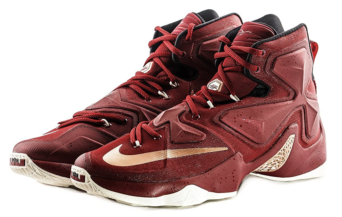 check out d7139 1abe7 Amazon.com | Nike Lebron XIII Cavaliers 8 Team Red Men ...