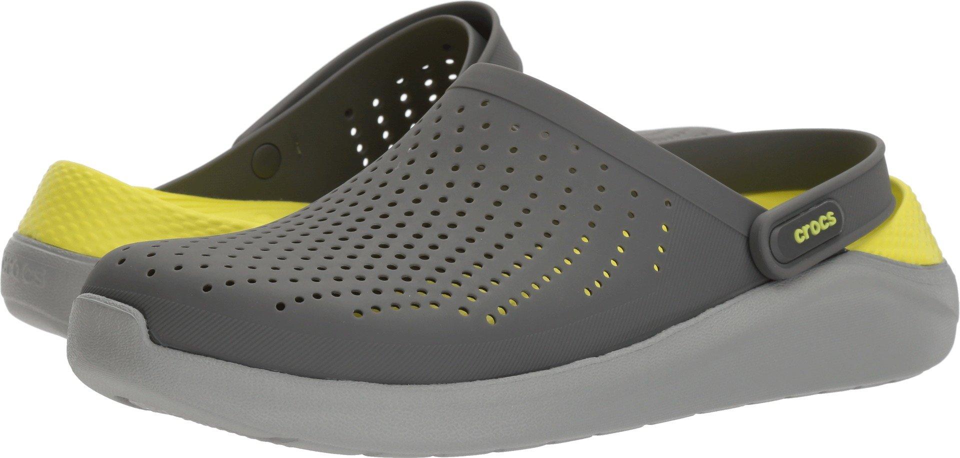 Crocs Unisex LiteRide Clog, Slate Grey/Light Grey, 9 US Men/11 US Women M US