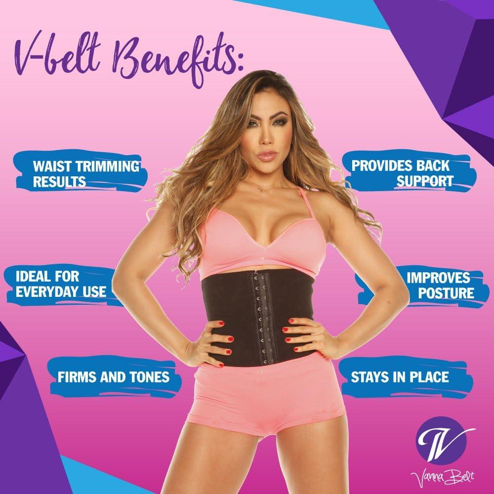 and Helps Improve Posture Provides Seamless Coverage Designed with Flexi-Boning Technology Vanna Belt: V-Belt Waist Trainer