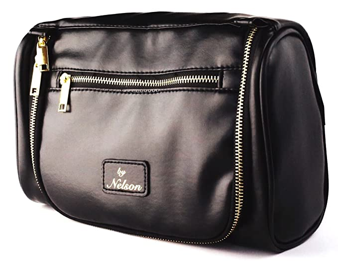 56dae9e121ba Amazon.com  By Nelson Toiletry Bag - Our Best Leather Dopp Kit That s A  Perfect Travel Storage Solution For Men and Women - Store All Bathroom  Accessories ...