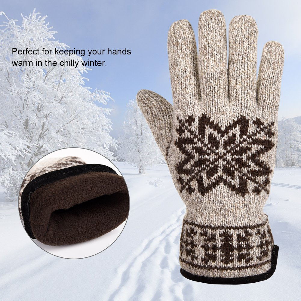 Vbiger Winter Handschuhe Warme Handschuhe Baumwolle Damen Frauen Handschuhe, Schneeflocken-khaki(l), One Size