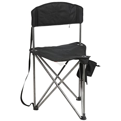 PORTAL Extra Large Quick Folding Tripod Stool with Backrest Fishing C&ing Chair with Carry Strap  sc 1 st  Amazon.com & Amazon.com : PORTAL Extra Large Quick Folding Tripod Stool with ...