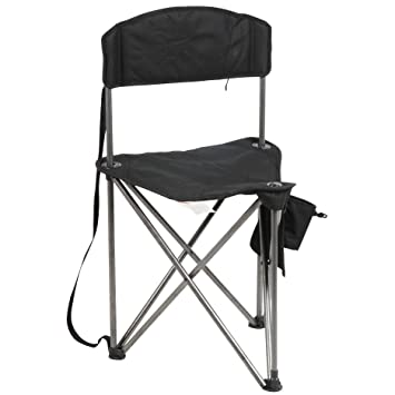Wondrous Portal Extra Large Quick Folding Tripod Stool With Backrest Fishing Camping Chair With Carry Strap Gamerscity Chair Design For Home Gamerscityorg