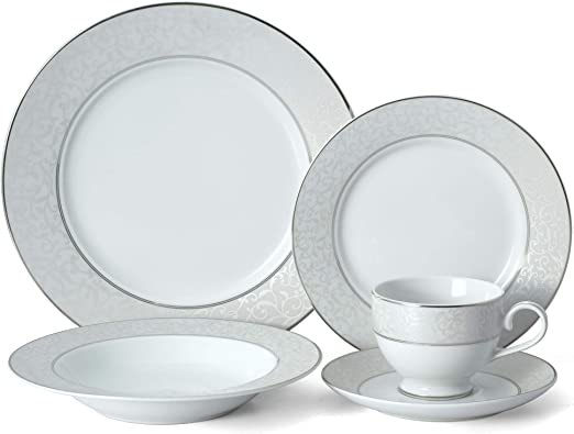 Amazon.com: Mikasa Vajilla de pergamino 20 Piece Set ...