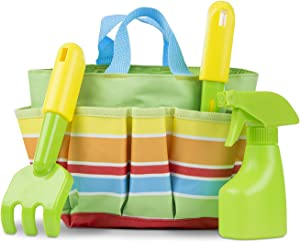 Melissa & Doug Giddy Buggy Tote Set: Sunny Patch Outdoor Play Series + 1 Scratch Art Mini-Pad Bundle (#06741)