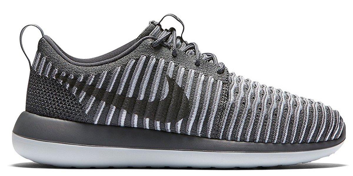 online retailer 0f160 e1ce6 Nike Women Roshe Two Flyknit (Dark Grey/Dark Grey-Pure Platinum) Size 7.5 US