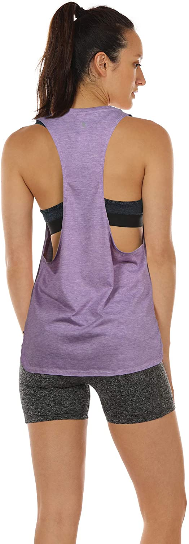 icyzone Sport Tank Top Damen Locker Yoga Fitness Shirt Racerback Oberteile atmungsaktive