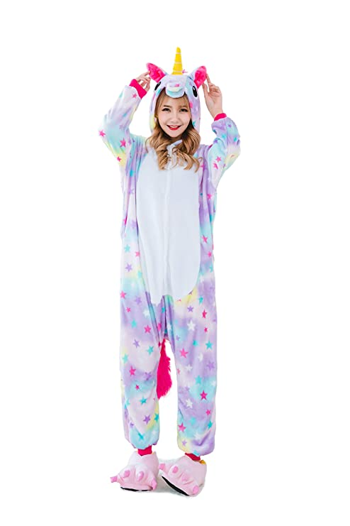Kauson Monkey Kigurumi Flanela Unicornio Pijamas la Ropa de ...