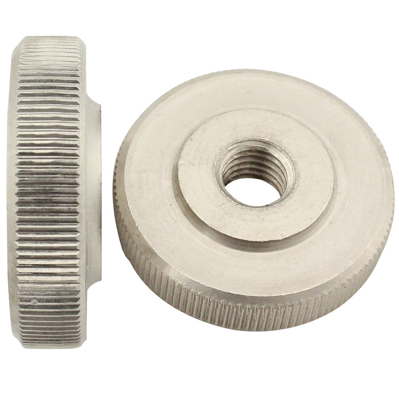 Rä ndelmuttern ( niedrige Form ) - M10 - ( 2 Stü ck ) - DIN 467 - rostfreier Edelstahl A1 (VA) / NIRO - SC467 | SC-Normteile