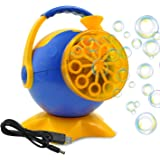 Automatic Bubble blower Machine for Kids Party with USB charge cable