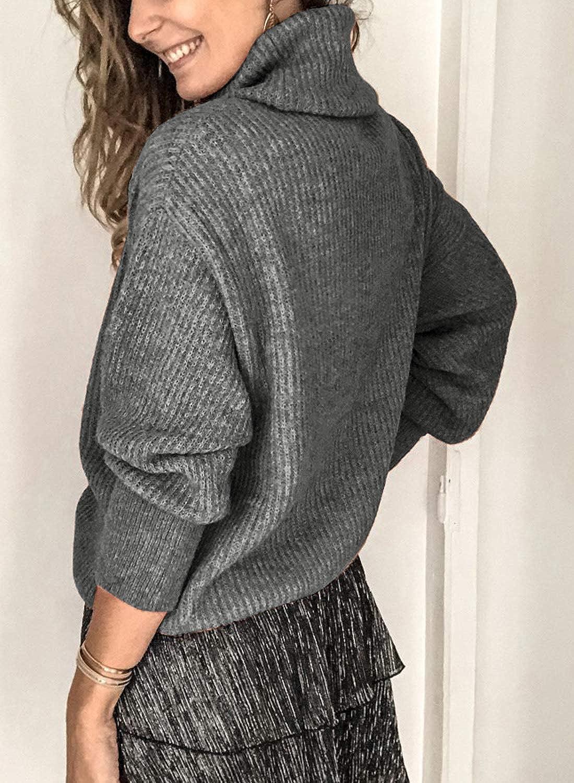 HIKARO Damen Strickpullover Hoodie Winter Strickjacke Lange /Ärmel Winterjacke Casual Winterpullover Strickpulli Pullover Sweater