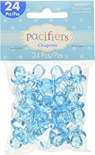 Amazon.com: Plastic Blue Its a Boy Rattle Baby Shower Favor Charms ...