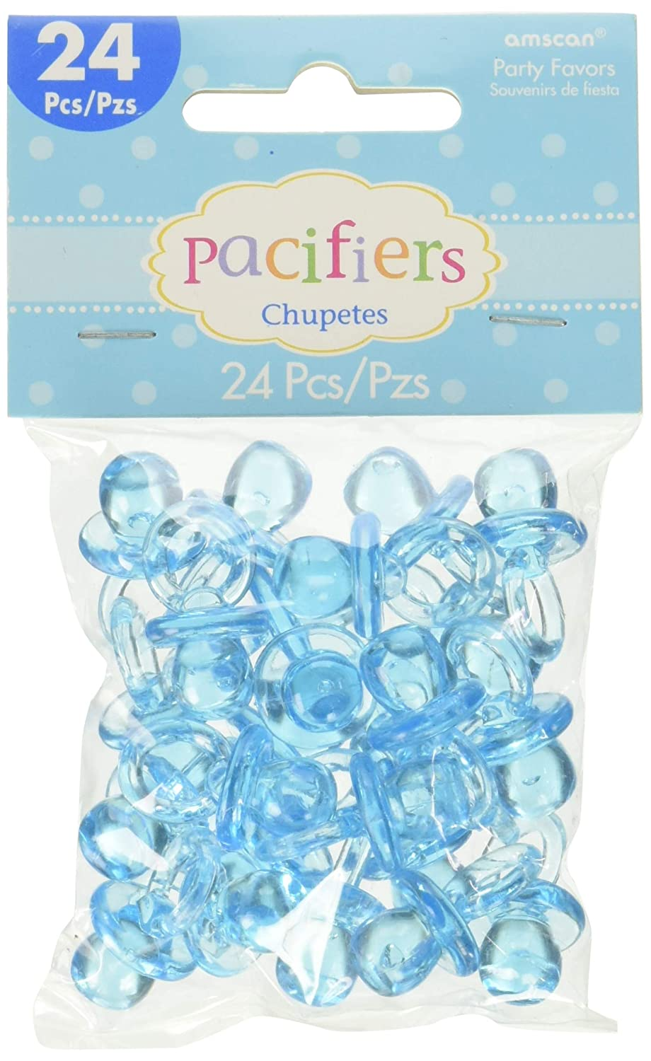 Amazon.com: Blue Pacifier Baby Shower Favor Charms 24ct ...