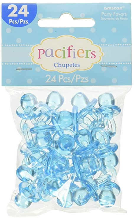 Amazon.com: Pink Pacifier Baby Shower Favor Charms 24ct: Toys & Games