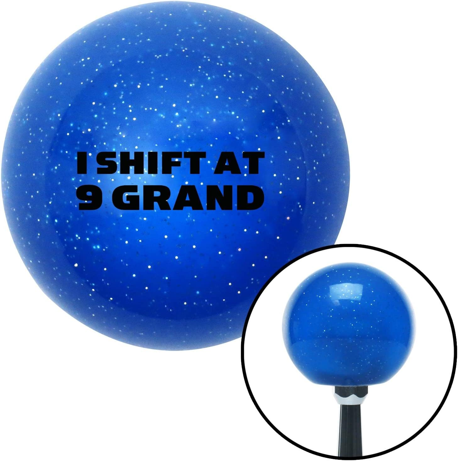 American Shifter 21301 Blue Metal Flake Shift Knob Black I Shift at 9 Grand