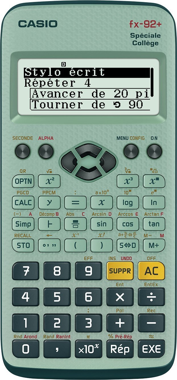 The Best Scientific Calculator FX 92 College II D Scientific Calculator, Battery (Entirely in French)