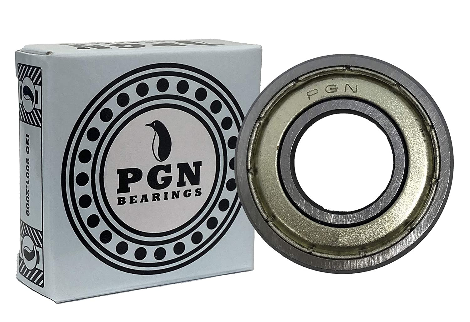 """(10 Pack) PGN - R4-ZZ Shielded Ball Bearing - 1/4""""x5/8""""x0.196"""" - Lubricated - Chrome Steel"""