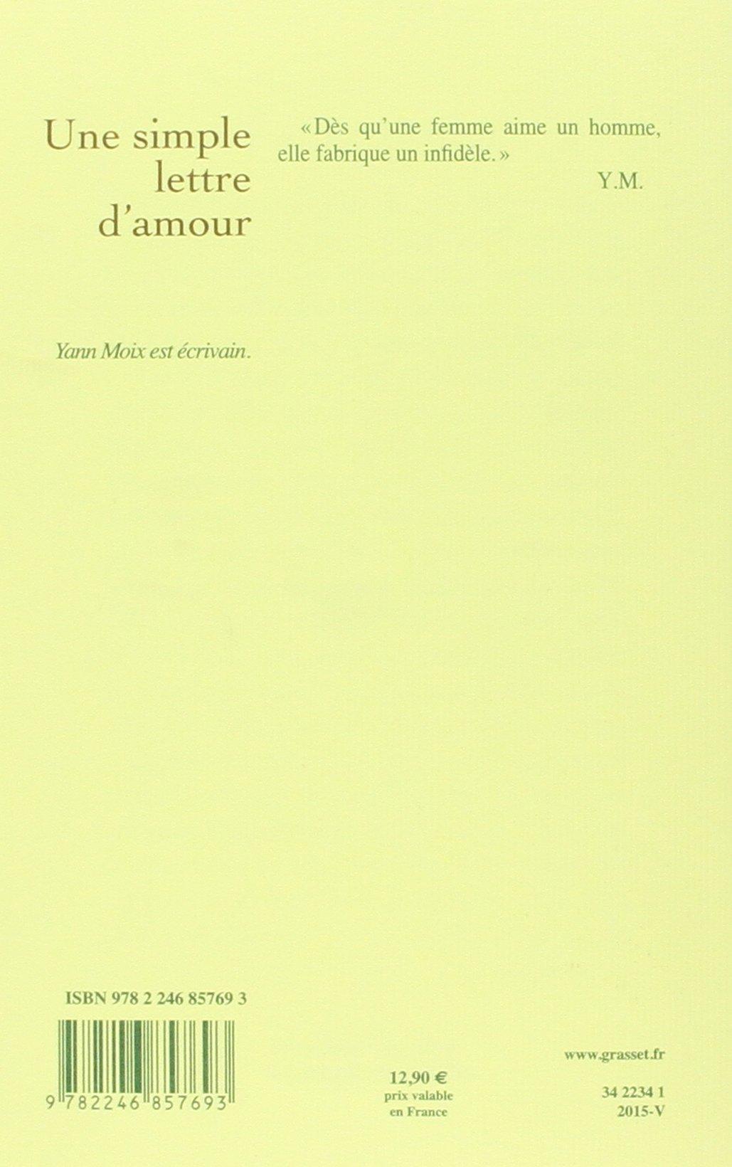 Une Simple Lettre Damour Roman Littérature Française