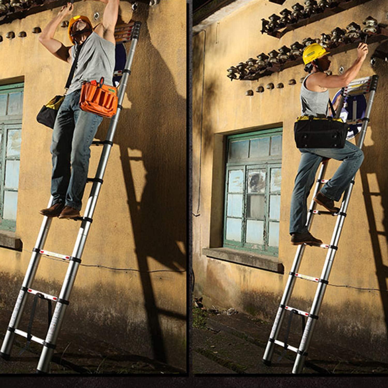 Todeco - Escalera Telescópica, Escalera Plegable - Carga máxima: 150 kg - Estándar/Certificación: EN131 - 3,8 Metro(s), Bolsa de transporte GRATIS, EN 131: Amazon.es: Bricolaje y herramientas
