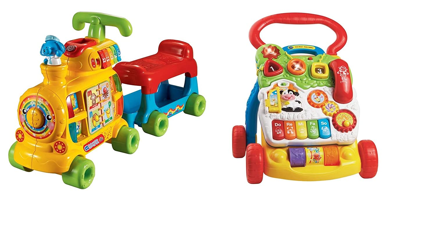 Vtech Baby BUNDLE Push and Ride Alphabet Train & First Steps Baby ...