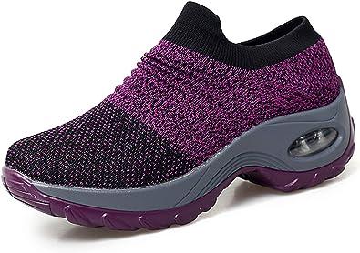 UNN Women's Walking Shoes Slip-on Mesh