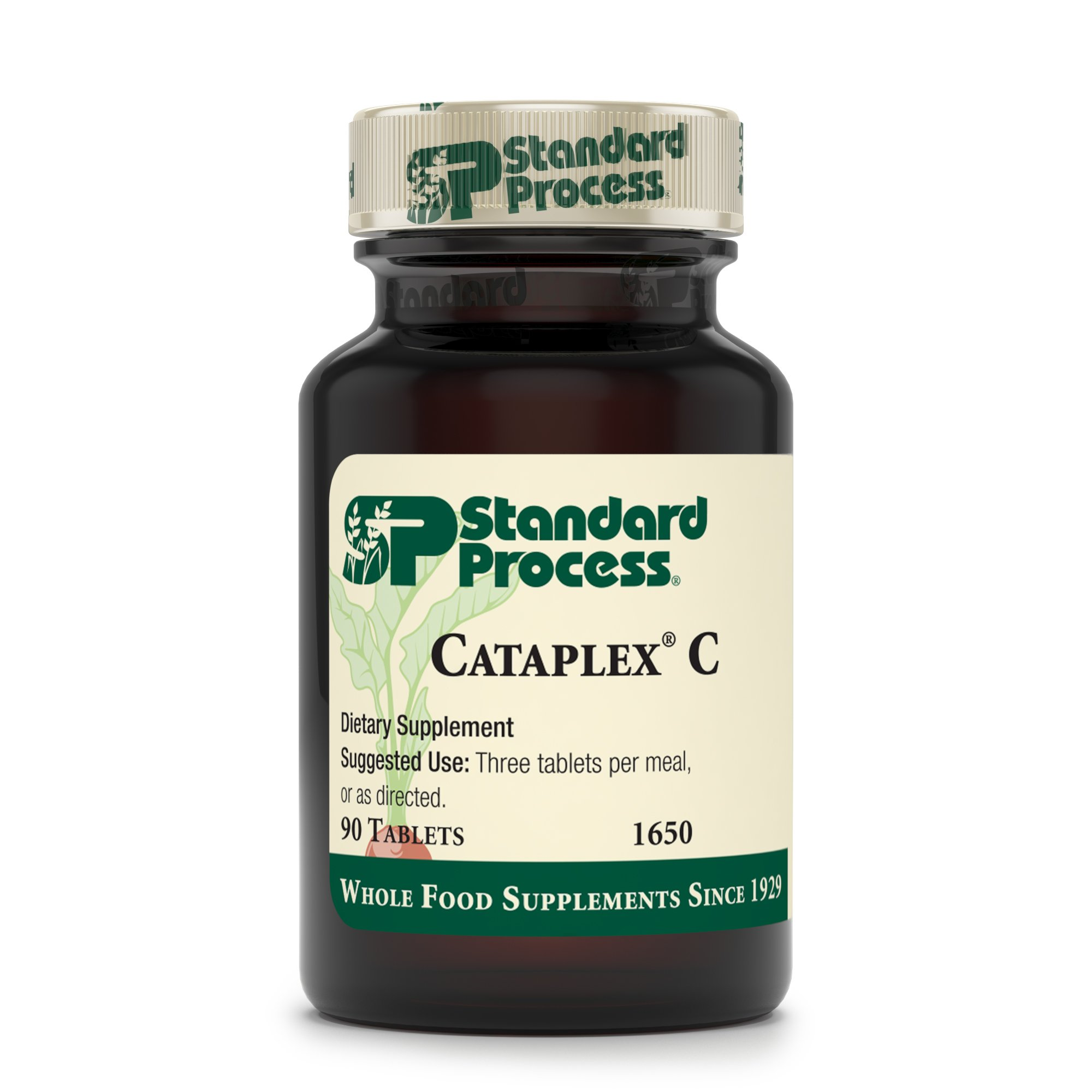 Standard Process - Cataplex C - Immune System Response Supplement, 17 mg Vitamin C, 30 mg Calcium, Supports Bone Health, Antioxidant Activity, Natural Collagen-Synthesis - 90 Tablets by Standard Process (Image #2)