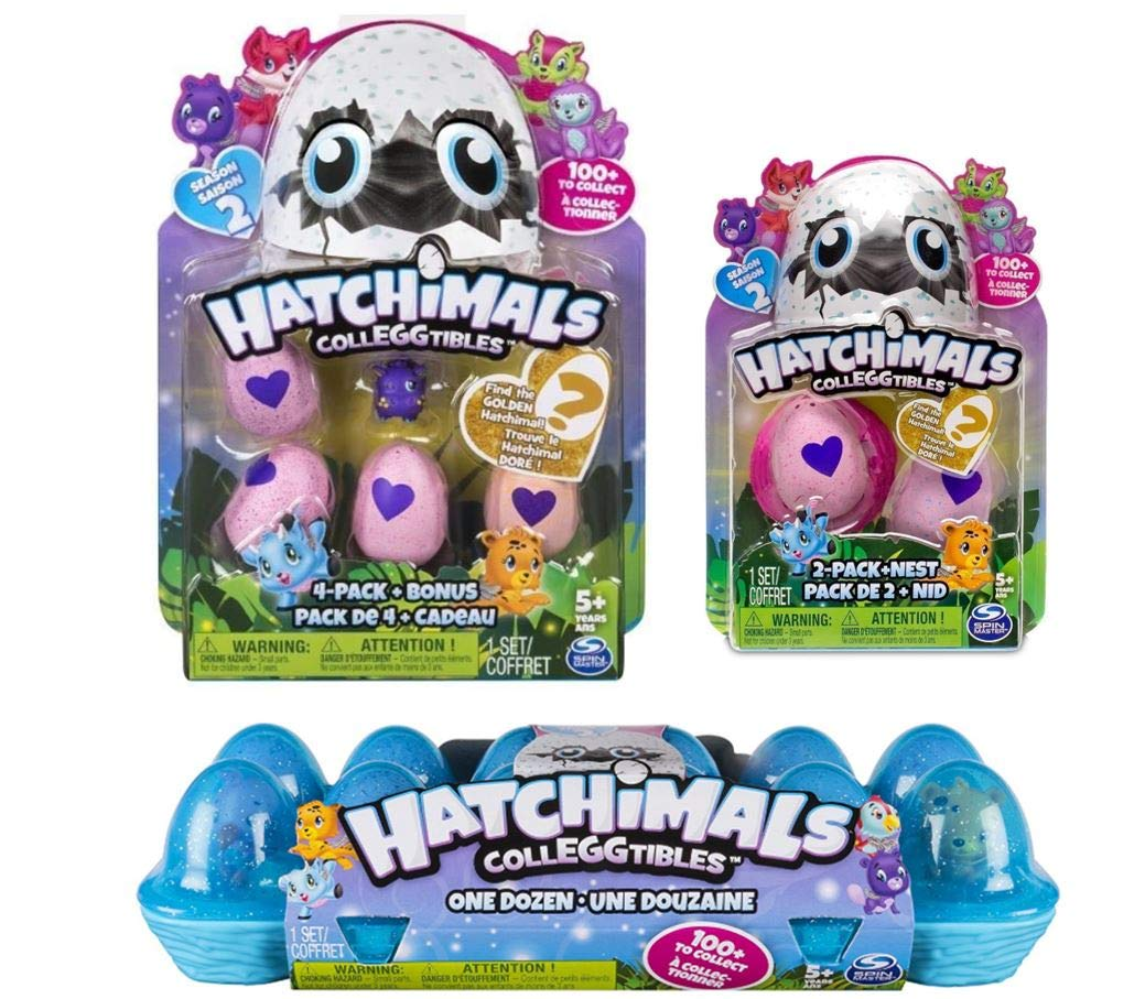 Hatchimals Colleggtibles Season 2 Gift Pack! ( Includes Egg Carton 12 Pack, 5 Pack, 2 Pack with Nest) Total of x19 by Hatchimals (Image #2)