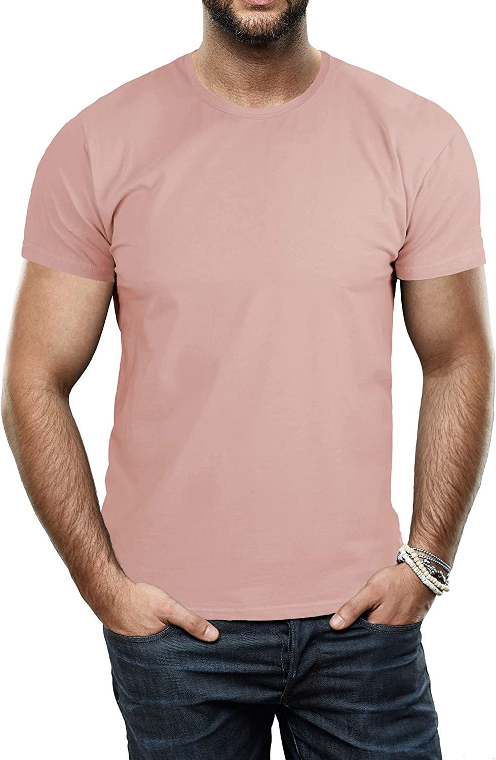X RAY Men's Soft Stretch Cotton Solid Short Sleeve Crew T-Shirt, Fashion Casual Tee for Men