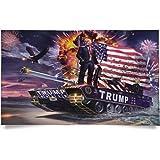 Kaiyuan Dynasty Trump Flag Tank Donald Flag 1pc 3x5 Feet with Grommets