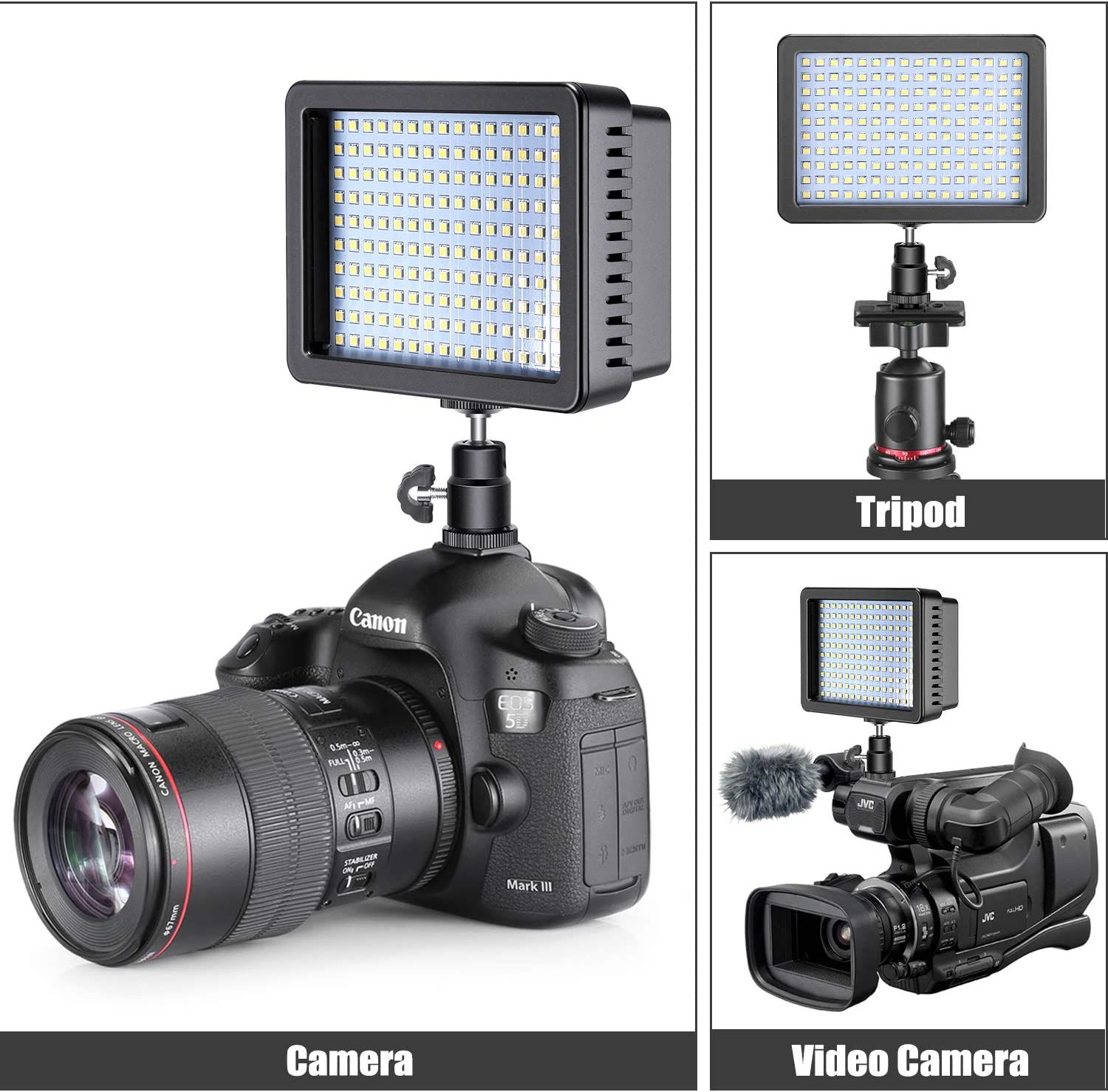 Neewer LED Video Light Kit,2-Pack Dimmable 3200K 6000K 160 SMD LED Light Panel with 75-Inch Light Stand Photography Lighting Kit for YouTube Studio Video Shooting,Large Case//Charger//Battery Include