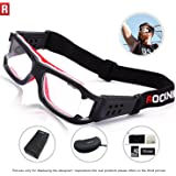 ROCKNIGHT Sports Goggles Safety Glasses Adjustable Eyewear for Basketball Football Volleyball for Men Women