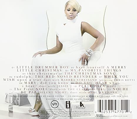 mary j blige a mary christmas amazoncom music - Whitney Houston Have Yourself A Merry Little Christmas
