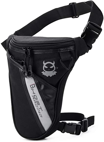 Motorcycle Rider Drop Hip Leg Bag Travel Hiking Men Nylon Thigh Waist Fanny Pack
