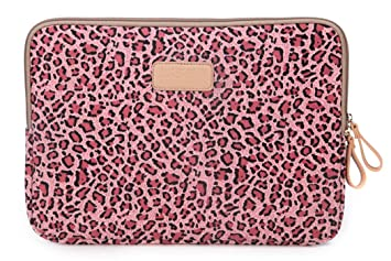 Lisen leopard canvas stoff 25 4u201339 6 cm laptop notebook sleeve